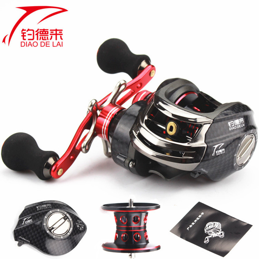 2017 New 12Ball Bearings + 1 One Way Clutch Bearing Legend Right Hand Baitcasting Reel 13BB 6.3:1 Carp Bait Casting Fishing Reel