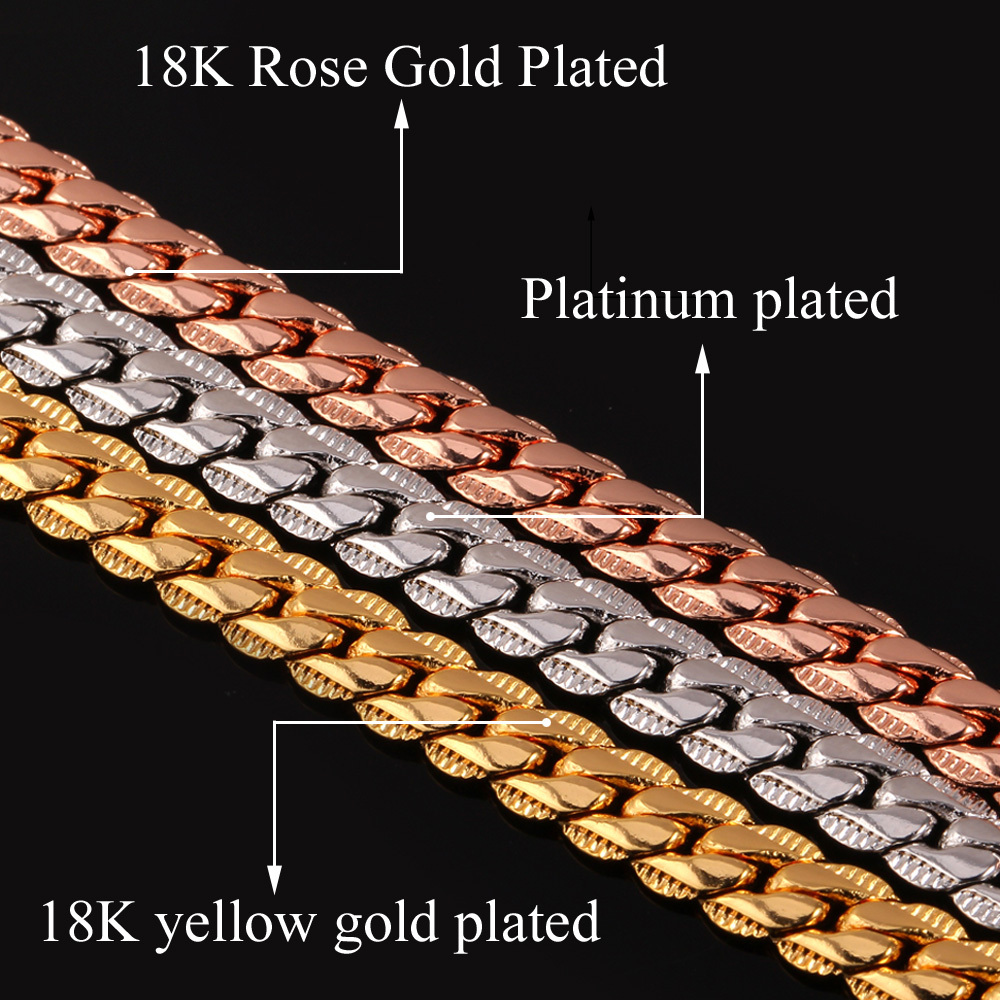 Rose Gold Plated Necklace Body Chain18K Gold Plated 55CM 66CM