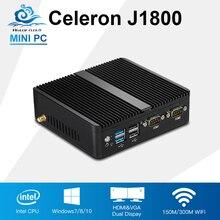 Мини-ПК Celeron J1800 2.41 ГГц Dual LAN мини промышленный компьютер N2830 тонкий клиент безвентиляторный Дизайн Windows 10 Настольный ПК