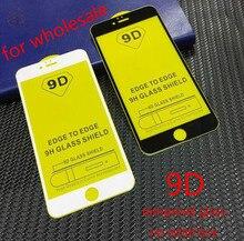 9D Beschermende Glas voor iPhone 7 Screen Protector iPhone 8 Xr Xs Xs Max Gehard Glas voor iPhone X 6 6s 7 plus 100pcs DHL