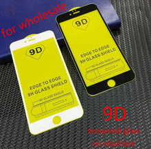 Vidrio Protector 9D para iPhone 7 Protector de pantalla iPhone 8 Xr Xs Max vidrio templado para iPhone X 6 6 6s 7 plus 100 piezas DHL