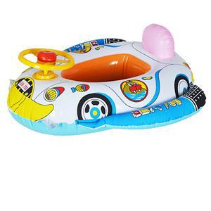 2015 High Quality Safe Cartoon Baby Swimming Seat Ring Kids Inflatable Car Style Pool Float Boat Children Swim Ring
