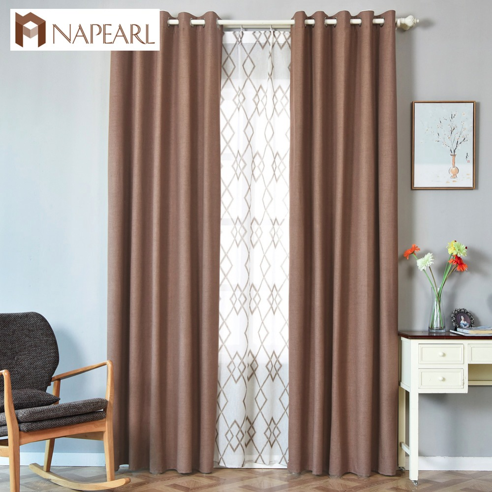 Bedroom Curtains Solid Color Japan Window Shades Imitation: NAPEARL 100% Blackout Curtain Shade Modern Window Bedroom