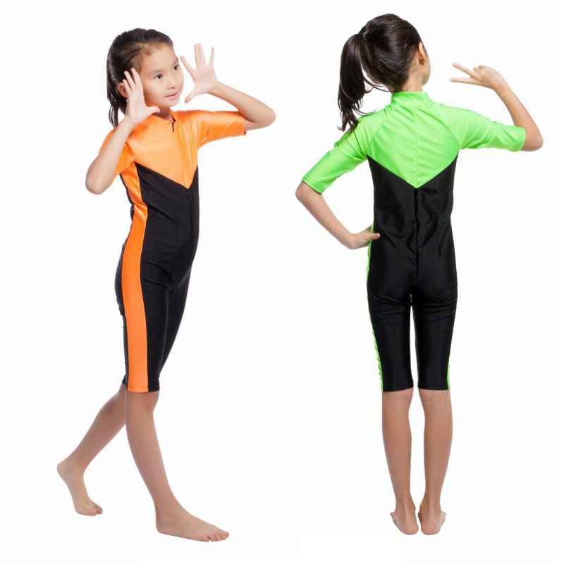 New Wholesale Muslim Islamic Tops Modest Pool Beach Swimming Swimwear Kids One-piece Swimsuit Accessories
