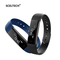 SCELTECH ID115 Smart Bracelet Sport Pedometer Fitness Tracker Sleep Monitor Wristband Bluetooth 4 0 Smartband For