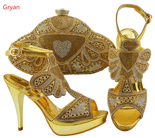 Gryan Women Favorite Popular Shoes and Bag Set African Shoes and Bag To Match High Quality Party Shoes and Bag SetH4-10 стоимость