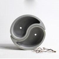 Silicone Mold Concrete Multi Meat Plant Cement Flower Pots Tai Chi Shape 3d Vase Molds Home