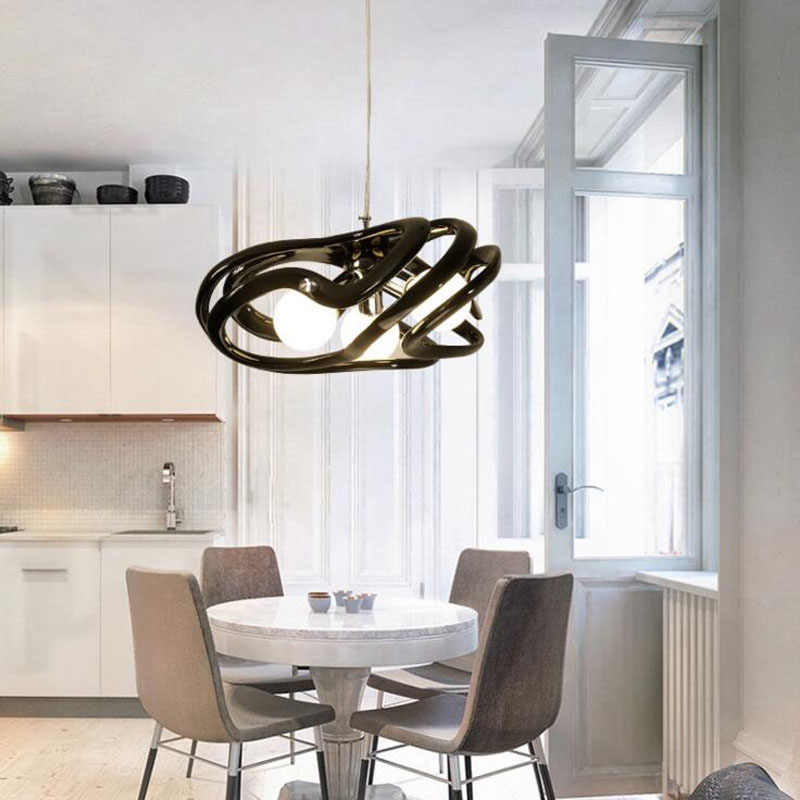 Chandelier LED modern minimalist bedroom lighting resin creative personality rural post-modern Nordic lighting fixture led lamps