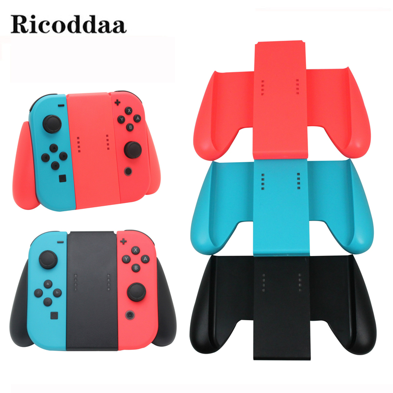 For Nintend Switch Joy-Con Comfort Grip Handle Hand Bracket Holder 2 Joy-Con Controllers For Nintend Switch NS Game Accessories alloyseed motion sensing game controller for taiko drum game drumstick kinect handle set hand grip gamepad for nintend switch ns