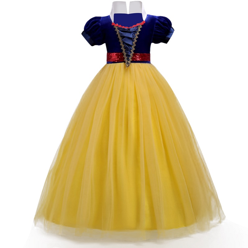 Girls Dresses For Hallowmas Clothes Children White Snow Cosplay Party Princess Costume,Christmas Girls Clothes for New Year hot new year children girls fancy cosplay dress snow white princess dress for halloween christmas costume clothes party dresses