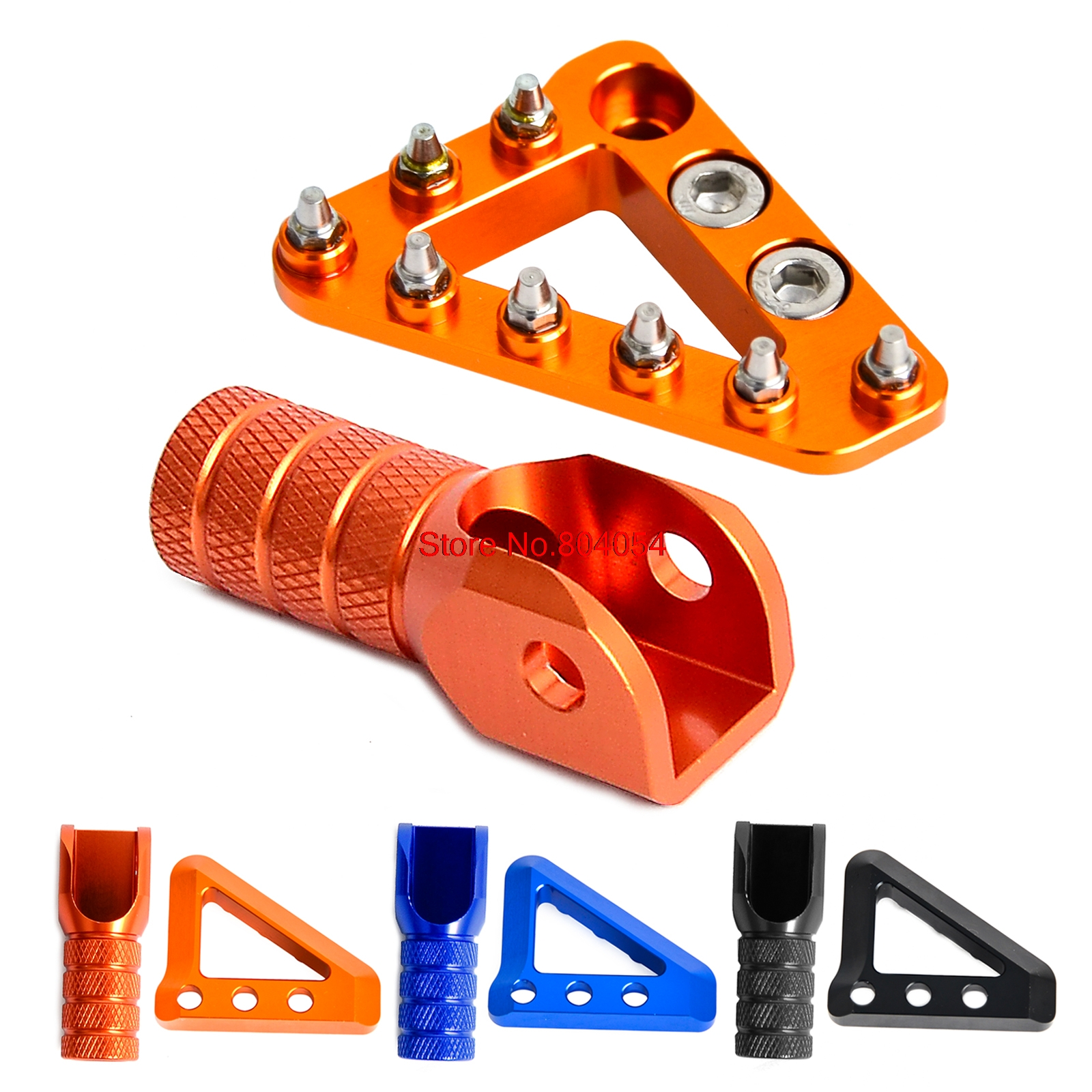 Brake Pedal Step & Shifter Lever Tip for KTM 125 200 250 300 350 400 450 500 520 525 530 SX SXF EXC EXC-F XCW XCF 2004-2015 orange cnc billet factory oil filter cover for ktm sx exc xc f xcf w 250 400 450 520 525 540 950 990