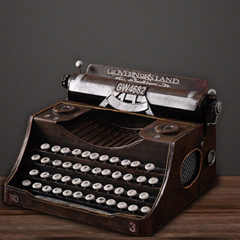 Américain rétro machine à écrire décoration créative café bar décor accessoires ameublement fer artisanat