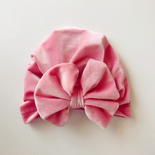 Turban Hats Winter Caps Beanie Spring Warm Autumn Newborn Girl Fashion 1PCS Bowknot Elastic