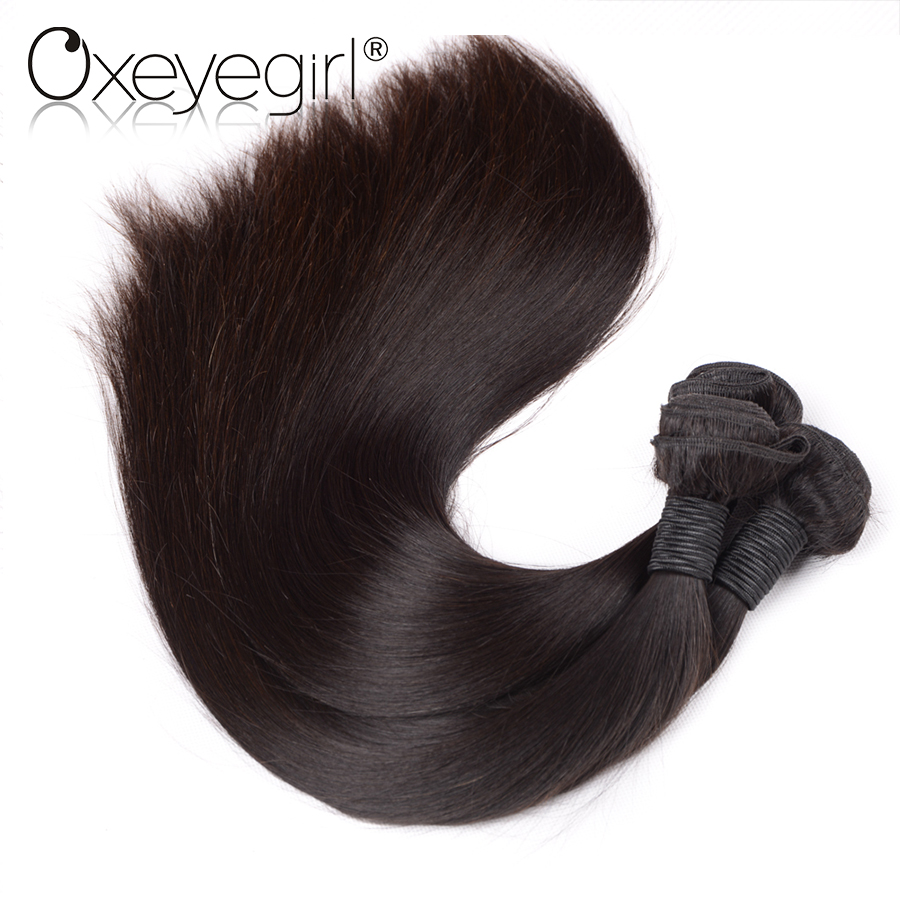 Brazilian Hair Weave Bundles Natural Color Straight Hair Bundles 10-28 Human Hair Bundles Oxeye girl Remy Hair Extensions ...