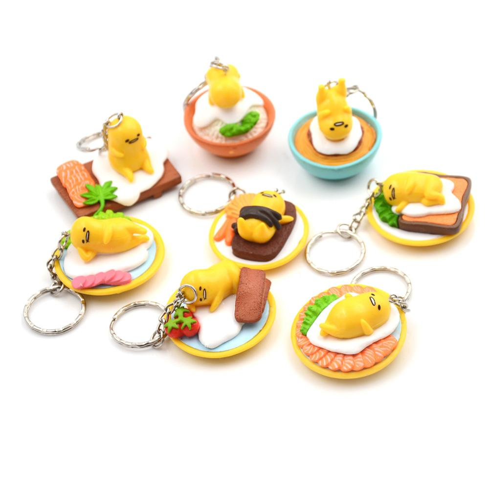 1PCS Lovely Figures Egg PVC Figure Toys Mini Dolls 3cm Approx Great Gift Keychain Pendant