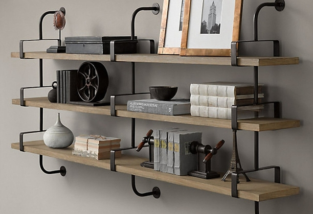 Wood Wall Shelving Closet Wrought Iron Shelves Word Separator Shelf Bracket Support Frame Decorated Living Room