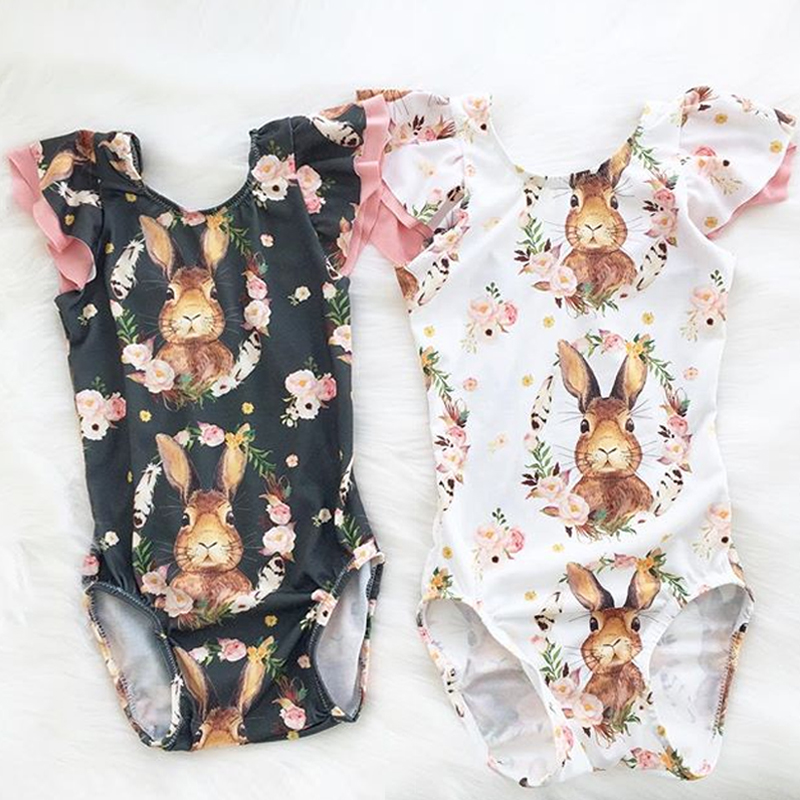 Easter Day Baby Romper Girls Cute Rabbit Cotton Jumpsuit Children Cartoon Bunny Tulle Romper Baby Clothes
