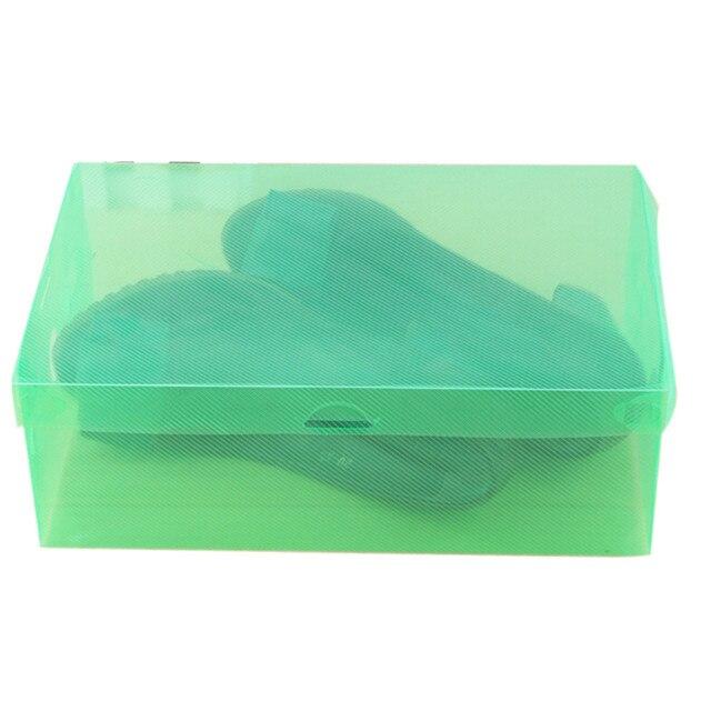 1PC Foldable Clear Shoes Storage Box Plastic Stackable Shoe Organizer Transparent storage shoebox storage box container