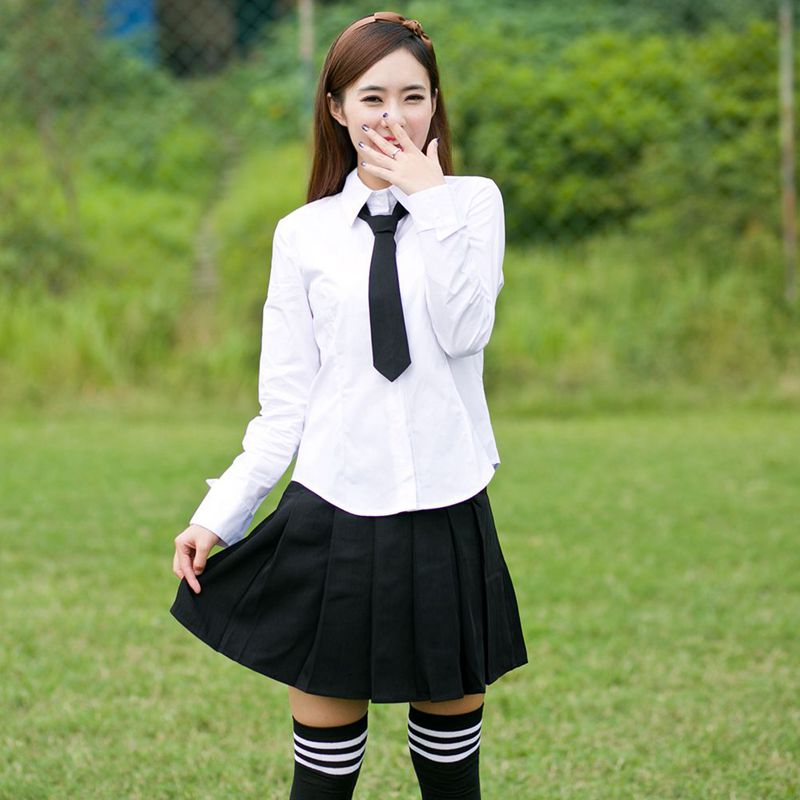 Female school uniforms set new style Japanese male student fashion shirt student uniform suit student uniform jk sailor suit in School Uniforms from Novelty Special Use