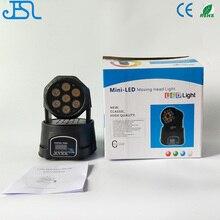 Free Shipping LED led wash mini moving head light 7x12w rgbw 4in1 leds advanced DMX DJ Light