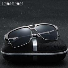 LeonLion 2017 Moda Original Espejo Polarizado gafas de Sol de Los Hombres UV400 Gafas Clásicas Gafas De Sol Gafas de Metal Gafas Gafas