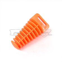 BJ- EPP-001 Orange Color Dirt bike Small Exhaust Pipe Muffler Silencer wash 2 Stroke Plug