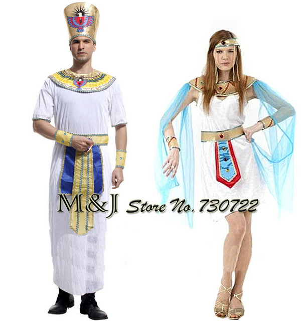 Adult men and women costumes Halloween couples crown princess cleopatra white Egyptian  sc 1 st  AliExpress.com & Free shipping!!Adult men and women costumes Halloween couples crown ...