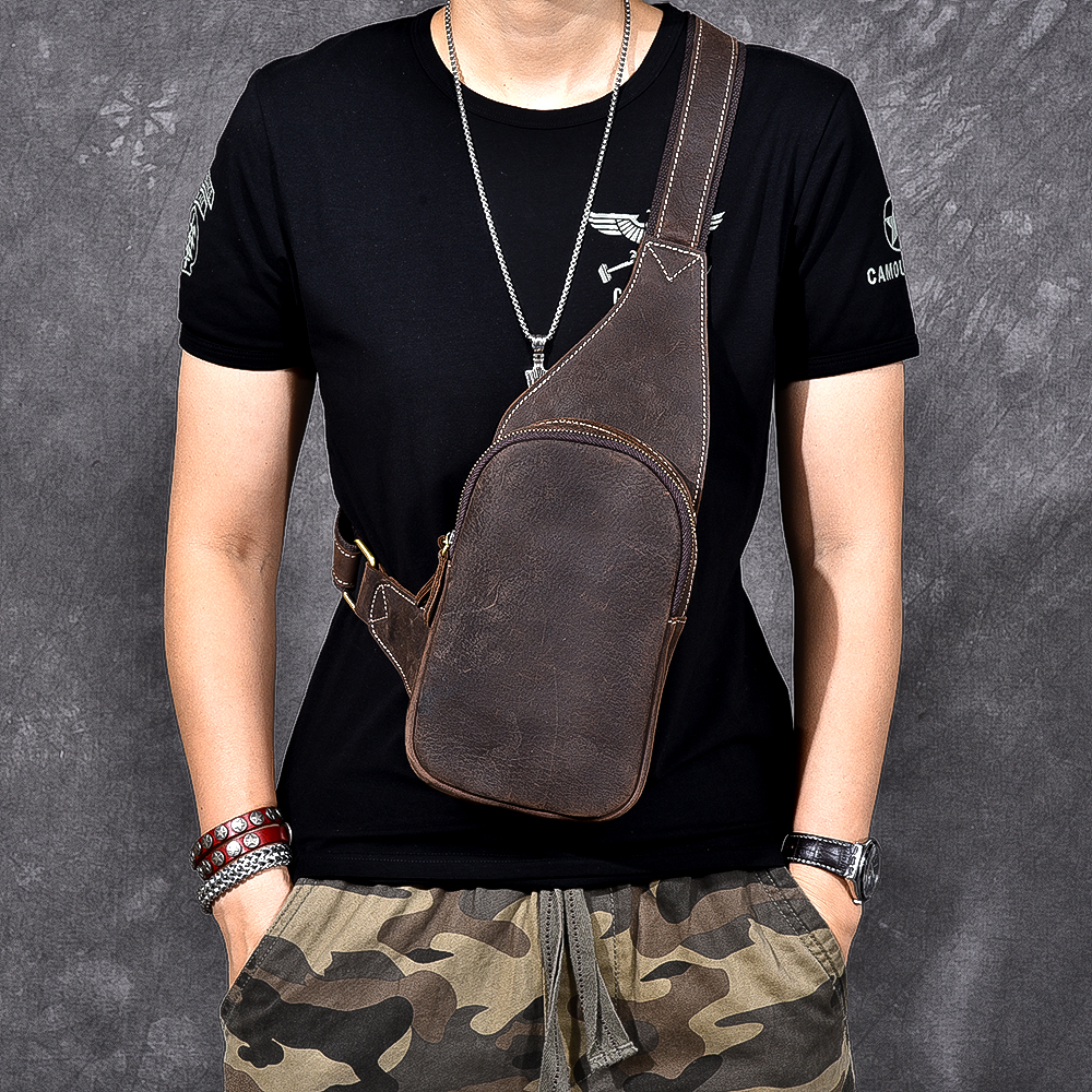 Men's Crossbody Bags Men's Chest Bag Messenger bag Women Genuine Leather Sling Shoulder Bags Diagonal Package Back Pack Travel компактная пудра yadah yadah air powder pact