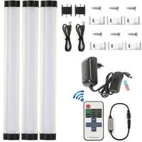 DMXY 3p/set smd2835 LED strip light 9W 110V 220V ultra thin bar LED under cabinet light kitchen lamp Surface mounted showcase***