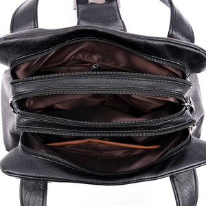 Image 5 - 女性革ハンドバッグヴィンテージソフトレザー女性クロスボディショルダーバッグデザイナーブランドレディース高容量トップハンドルバッグ