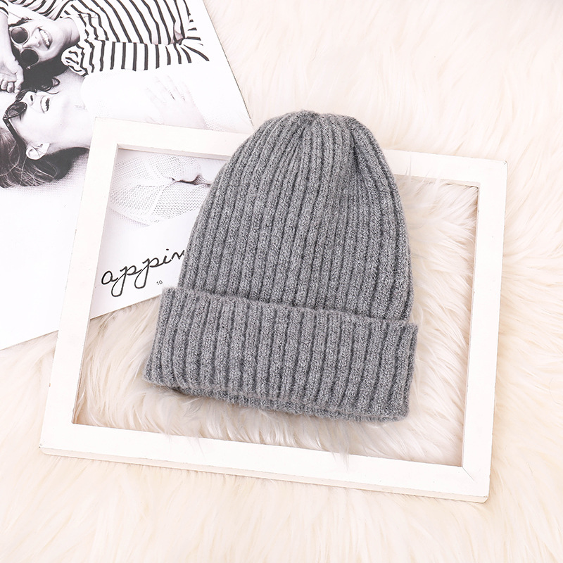 Fashion Mohair Male Lady Curling Knit Hat Outdoor Travel Boy Girl Girl Windproof Warm Wool Knit Hat