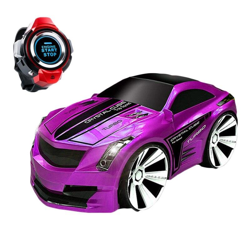 Novo 1:28 Corridas De Carros de Brinquedo Carro de Controle Remoto de Voz Relógio Relógio Inteligente Voice-Activated Carro Elétrico Deriva Carro de Rádio Recarregável