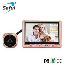 Freies Verschiffen 4,3 'LCD Rose gold Video Peepholeprojektors hat Weitwinkel Aufnahme Viewer Türklingel mit Nachtsicht