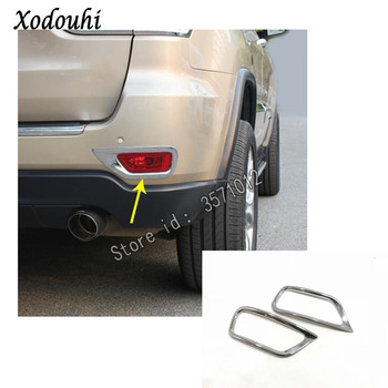For Jeep Grand Cherokee 2014 2015 2016 2017 2018 car sticker styling cover Rear Tail Fog Light Cover Trim lamp frame parts 2pcs