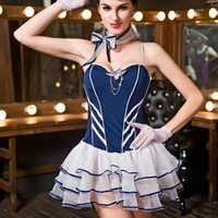 Sexy Baby doll Lace Lingerie Sexy Cosplay Airline Stewardess Student Uniform Erotic Lingerie Large Big Size