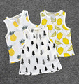 high quanlity baby Boys Girls Fleece Fruits/Tree Pattern sleeveless shirt Tee Kids Clothing Toddler children clothes