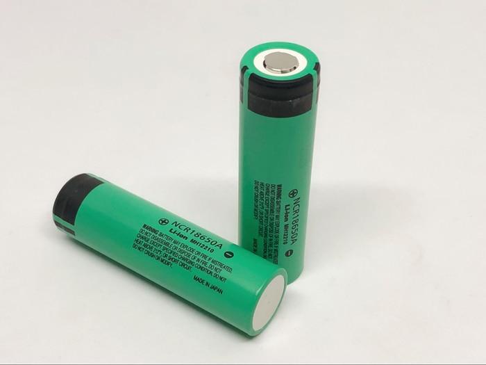2 pçs/lote Novo Original Para panasonic 18650 NCR18650A Bateria Recarregável 3.6 V 3100 mAh Baterias Para panasonic laptop