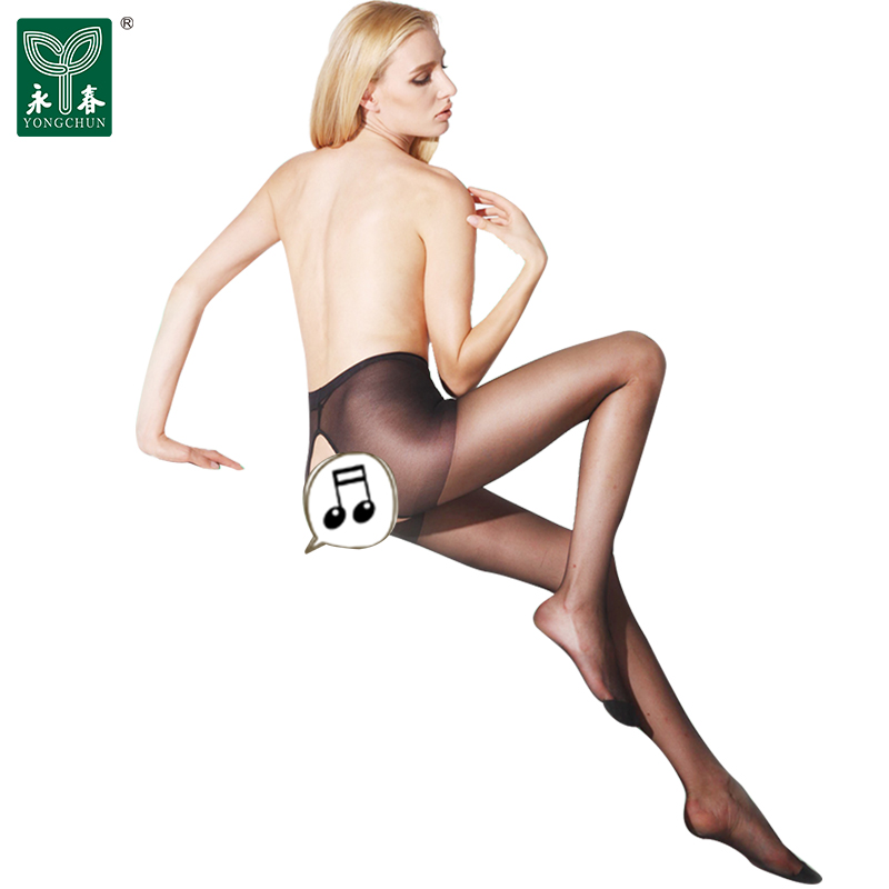 Yongchun pantyhose summer tights carved hollow bag core silk open crotch sexy stockings 6684H