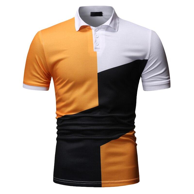 MOGU 2019 New Plus Size 3XL Short Men's Polo Shirts Slim Fit Breathable Hawaiian Camisa Polos Short Sleeve Fashion Polo Shirts
