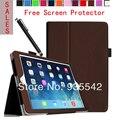 Ultra Couro Fino Folio Magro PU Stand Case Capa do Livro para apple ipad mini 1 & para ipad mini 2 com retina exibição (marrom)
