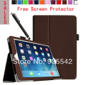 Ultra Thin Folio Slim PU Leather Stand Case Book Cover for Apple iPad Mini 1 & for iPad Mini 2 with Retina Display (Brown)