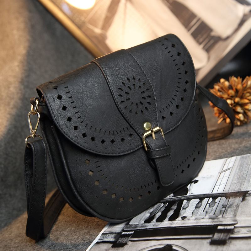 b44d3ffff98a US $14.5 30% OFF|HISUELY Fashion Casual Women Messenger Bags Small PU  Hollow Out Crossbody Bags Ladies Shoulder Purse Girls Handbags Solid  Bolsas-in ...