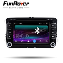 Funrover 2 din Android 6.0 Car dvd multimedia player For Vw volkswagen passat polo golf octavia Radio gps Autoradio Navigaiton