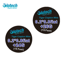 Glotech 5m/roll Tiger Clapton Wire heating wire 24G and 26G for RDA RBA RTA Rebuildable Atomizer Coil E-Cigarette DIY  Vaporizer