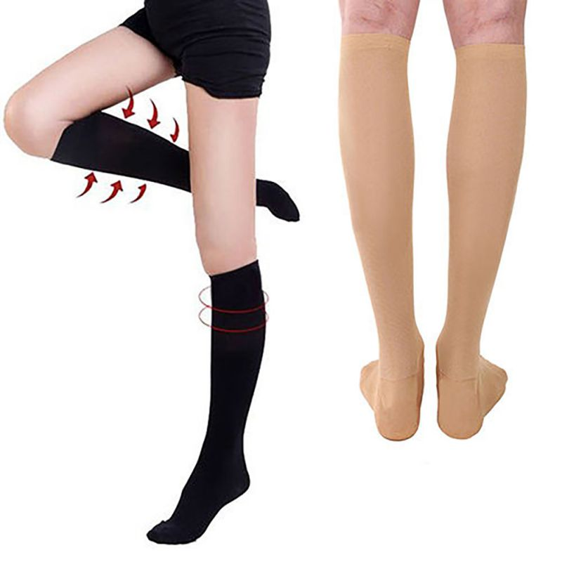 Thigh-High Adult Compression Outdoors Stockings Tight Pressure Nylon Varicose Vein Stocking Travel Leg Relief Pain Support O