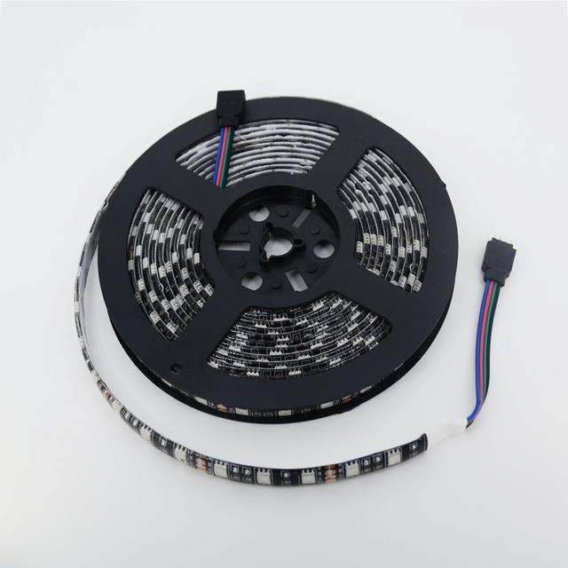 DC12V 5m 60 led/m  Black PCB Board Waterproof 5050 LED Strip Light Warm White CoolWhite Blue Red RGB For home car hotel KTV Bar