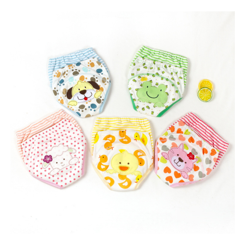 2 Pieces Baby Infant Toddler Waterproof Training Pants Cotton Changing Nappy Cloth Diaper Panties Reusable Washable