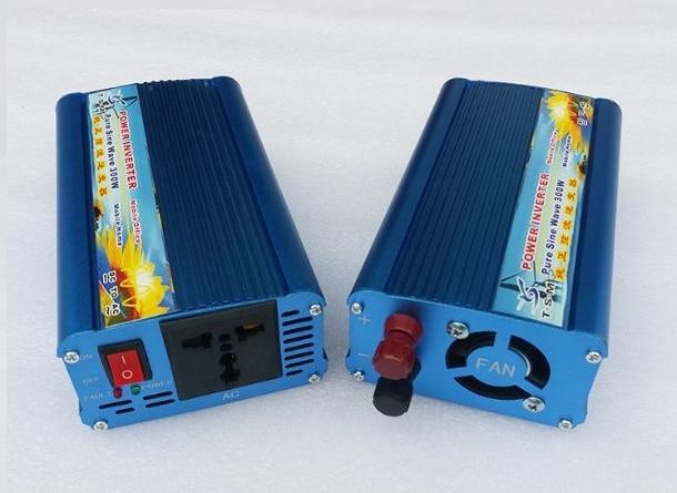 цена на portable 300W Car Inverter 12V to 220V 600W Peak Power pure sine wave Inverter Voltage Converter