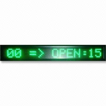 7*80 pixel semi-outdoor-used red color;P7.62mm led moving sign;660mm*98mm*35mm
