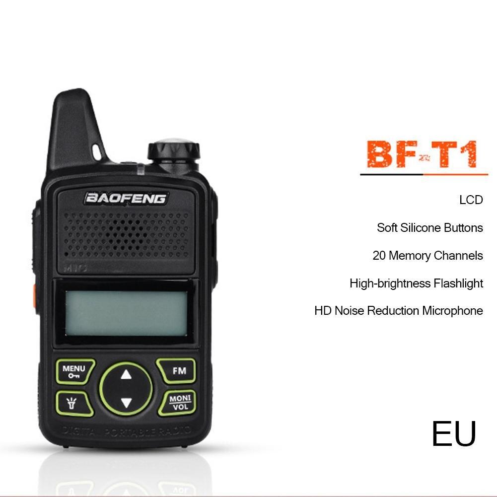 2 pcs Baofeng BF-T1 Radio Portable MINI Talkie-walkie Double Jambon Radio Communicador USB Interphone Radio Bidirectionnelle Baofeng T1